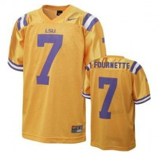 Mens Leonard Fournette Lsu Tigers #7 Authentic Gold College Football Jersey