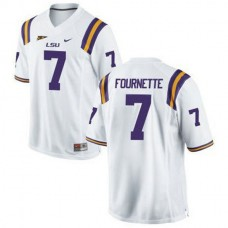 Mens Leonard Fournette Lsu Tigers #7 Authentic White College Football Jersey
