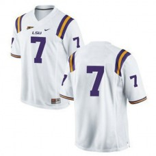Youth Leonard Fournette Lsu Tigers #7 Game White College Football Jersey No Name