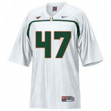 Mens Michael Irvin Miami Hurricanes #47 Game White College Football Jersey