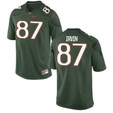 Womens Michael Irvin Miami Hurricanes #47 Authentic Green College Football Alternate Jersey