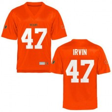 Youth Michael Irvin Miami Hurricanes #47 Authentic Orange College Football Jersey