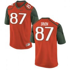 Youth Michael Irvin Miami Hurricanes #47 Authentic Orange Green College Football Jersey