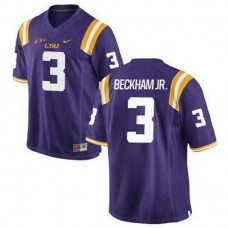 Mens Odell Beckham Jr Lsu Tigers #3 Authentic Purple College Football Jersey