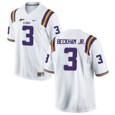 Mens Odell Beckham Jr Lsu Tigers #3 Authentic White College Football Jersey