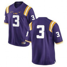 Mens Odell Beckham Jr Lsu Tigers #3 Game Purple College Football Jersey No Name