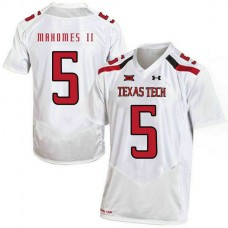 Mens Patrick Mahomes Texas Tech Red Raiders #5 Game White Colleage Football Jersey
