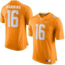 Mens Peyton Manning Tennessee Volunteers #16 Authentic Orange Colleage Football Jersey