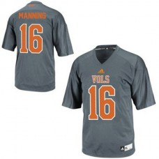 Womens Peyton Manning Tennessee Volunteers #16 Adidas Authentic Grey Colleage Football Jersey