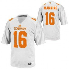 Womens Peyton Manning Tennessee Volunteers #16 Adidas Limited White Colleage Football Jersey