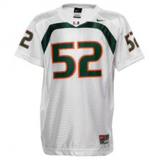 Mens Ray Lewis Miami Hurricanes #52 Authentic White College Football Jersey