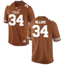Mens Ricky Williams Texas Longhorns #34 Authentic Orange Colleage Football Jersey