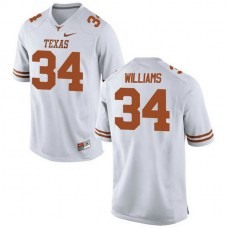 Womens Ricky Williams Texas Longhorns #34 Authentic White Colleage Football Jersey
