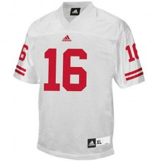 Youth Russell Wilson Wisconsin Badgers #16 Authentic White Colleage Football Jersey