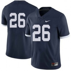 Mens Saquon Barkley Penn State Nittany Lions #26 Authentic Navy Colleage Football Jersey No Name