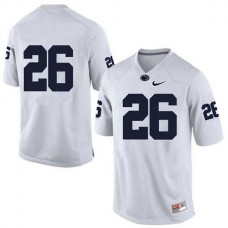 Mens Saquon Barkley Penn State Nittany Lions #26 Authentic White Colleage Football Jersey No Name