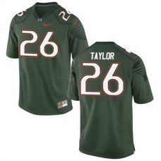 Mens Sean Taylor Miami Hurricanes #26 Authentic Green College Football Jersey