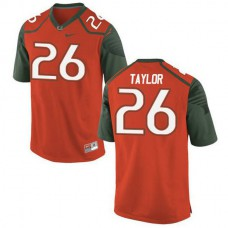 Womens Sean Taylor Miami Hurricanes #26 Limited Orange Green College Football Jersey