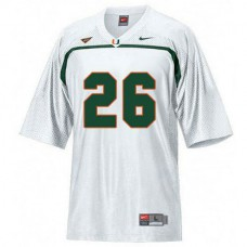 Womens Sean Taylor Miami Hurricanes #26 Limited White College Football Jersey