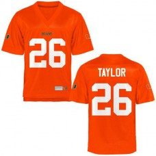 Youth Sean Taylor Miami Hurricanes #26 Authentic Orange College Football Jersey