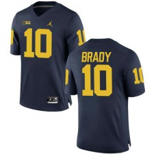 Mens Tom Brady Michigan Wolverines #10 Limited Navy College Football Jersey