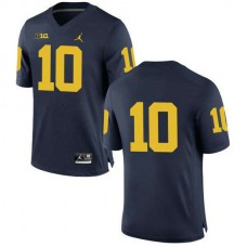 Womens Tom Brady Michigan Wolverines #10 Authentic Navy College Football Jersey No Name