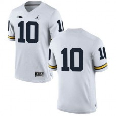 Youth Tom Brady Michigan Wolverines #10 Authentic White College Football Jersey No Name