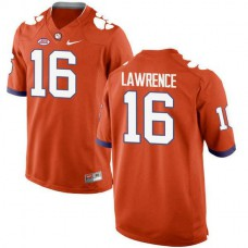 Mens Trevor Lawrence Clemson Tigers #16 New Style Game Orange Colleage Football Jersey