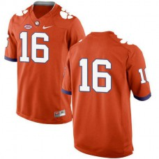 Mens Trevor Lawrence Clemson Tigers #16 New Style Game Orange Colleage Football Jersey No Name