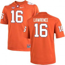 Womens Trevor Lawrence Clemson Tigers #16 Authentic Orange Colleage Football Jersey