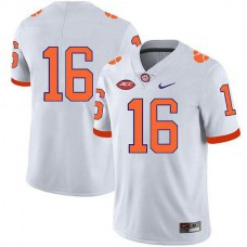 Womens Trevor Lawrence Clemson Tigers #16 Authentic White Colleage Football Jersey No Name