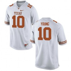 Mens Vince Young Texas Longhorns #10 Authentic White Colleage Football Jersey