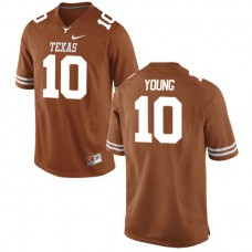 Mens Vince Young Texas Longhorns #10 Game Orange Colleage Football Jersey